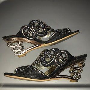 John Fashion Women's Rhinestone Heels Size 8